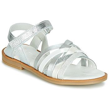 Pantofi Fete Sandale și Sandale cu talpă  joasă Citrouille et Compagnie JARILOU Argintiu