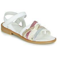Pantofi Fete Sandale și Sandale cu talpă  joasă Citrouille et Compagnie JARILOU Alb
