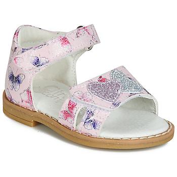 Pantofi Fete Sandale și Sandale cu talpă  joasă Citrouille et Compagnie JARILOUTE Roz