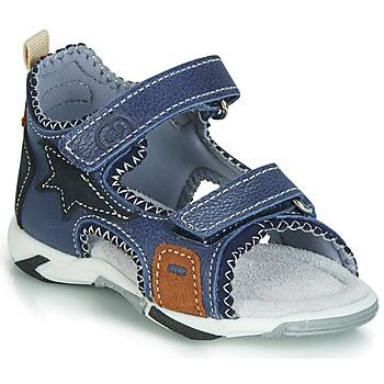Pantofi Băieți Sandale  Citrouille et Compagnie JATILEME Albastru / LuminoasĂ