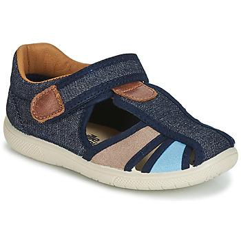 Încăltăminte Băieți Sandale și Sandale cu talpă  joasă Citrouille et Compagnie JOLIETTE Jean / Albastru / Bej