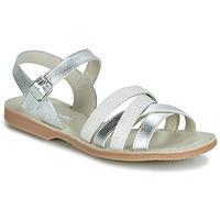 Pantofi Fete Sandale și Sandale cu talpă  joasă Citrouille et Compagnie JAGUINOIX Gri / Argintiu