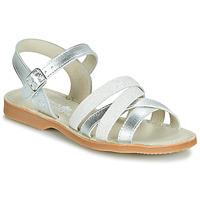 Încăltăminte Fete Sandale și Sandale cu talpă  joasă Citrouille et Compagnie JAGUINOIX Gri / Argintiu
