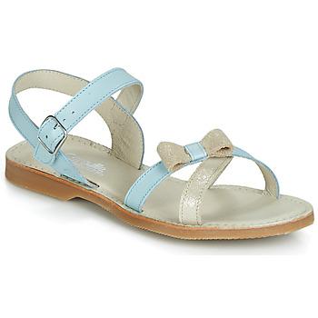 Pantofi Fete Sandale  Citrouille et Compagnie JISCOTTE Albastru / LuminoasĂ