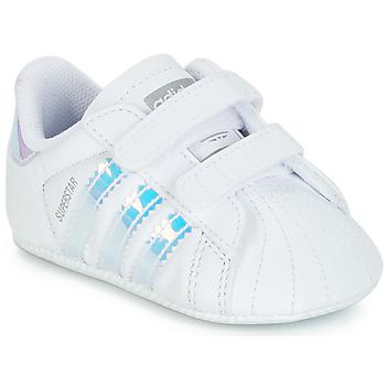 Pantofi Fete Pantofi sport Casual adidas Originals SUPERSTAR CRIB Alb