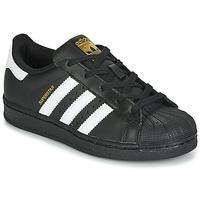 Încăltăminte Copii Pantofi sport Casual adidas Originals SUPERSTAR C Negru / Alb