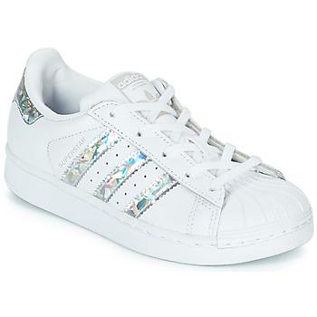 Pantofi Fete Pantofi sport Casual adidas Originals SUPERSTAR C Alb / Argintiu
