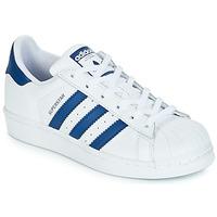 Încăltăminte Copii Pantofi sport Casual adidas Originals SUPERSTAR J Alb / Albastru