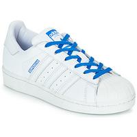 Încăltăminte Fete Pantofi sport Casual adidas Originals SUPERSTAR J Alb / Albastru
