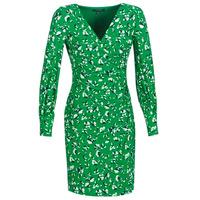 Îmbracaminte Femei Rochii scurte Lauren Ralph Lauren FLORAL PRINT-LONG SLEEVE-JERSEY DAY DRESS Verde