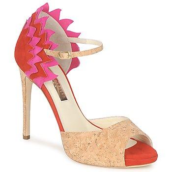 Pantofi Femei Sandale  Rupert Sanderson FLAMANTE Roșu / Negru