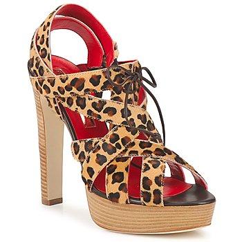 Pantofi Femei Sandale și Sandale cu talpă  joasă Rupert Sanderson BRISE Leopard
