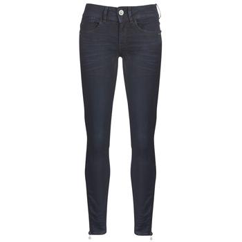Îmbracaminte Femei Jeans skinny G-Star Raw LYNN ZIP MID SKINNY ANKLE Albastru / Dark / Aged / Cobler