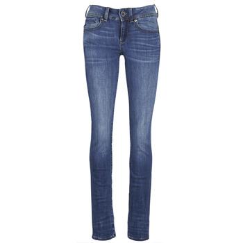 Îmbracaminte Femei Jeans drepti G-Star Raw MIDGE SADDLE MID STRAIGHT Albastru / Medium / Indigo / Aged