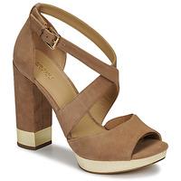 Pantofi Femei Sandale  MICHAEL Michael Kors VALERIE PLATFORM Camel