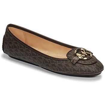 Pantofi Femei Balerin și Balerini cu curea MICHAEL Michael Kors LILLIE MOC Maro