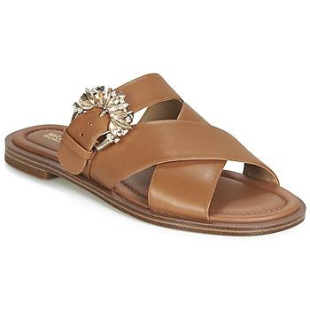 Pantofi Femei Papuci de vară MICHAEL Michael Kors FRIEDA SLIDE Maro