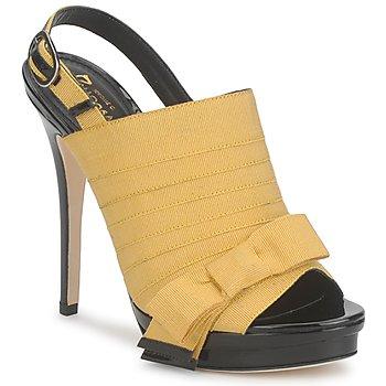 Pantofi Femei Sandale și Sandale cu talpă  joasă Jerome C. Rousseau BYEN Galben / Negru