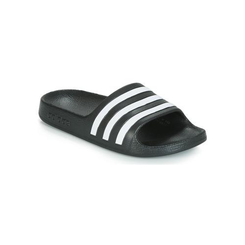 Pantofi Copii Șlapi adidas Performance ADILETTE AQUA K Negru / Alb
