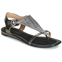 Pantofi Femei Sandale și Sandale cu talpă  joasă JB Martin ARMOR Negru / Argintiu