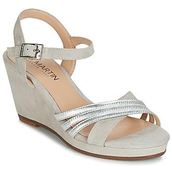 Pantofi Femei Sandale și Sandale cu talpă  joasă JB Martin QUOLIDAYS Gri