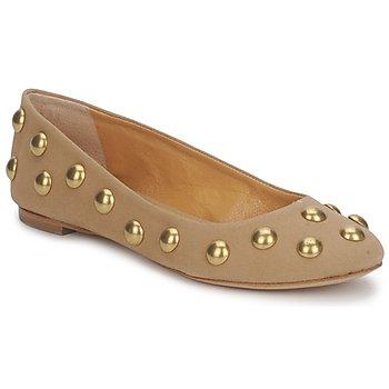 Pantofi Femei Balerin și Balerini cu curea Keyté CANDY TESSU Bej