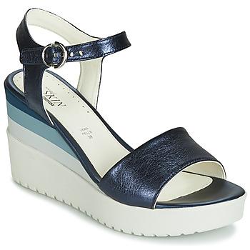 Pantofi Femei Sandale și Sandale cu talpă  joasă Stonefly ELY 7 LAMINATED LTH Albastru