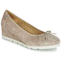 Pantofi Femei Balerin și Balerini cu curea Stonefly MILLY 2 GOAT SUEDE Bej