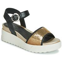Pantofi Femei Sandale și Sandale cu talpă  joasă Stonefly PARKY 3 NAPPA/PAILETTES Negru
