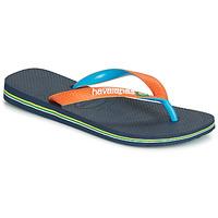 Pantofi  Flip-Flops Havaianas BRASIL MIX Bleumarin / Portocaliu