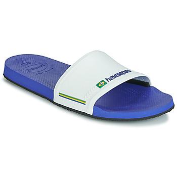 Pantofi Șlapi Havaianas SLIDE BRASIL Bleumarin / Alb