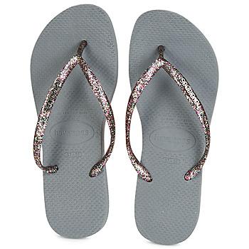 Pantofi Femei  Flip-Flops Havaianas SLIM LOGO METALLIC Gri