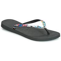 Pantofi Femei  Flip-Flops Havaianas SLIM STRAPPED Negru