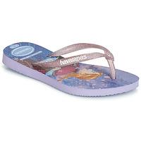 Pantofi Fete  Flip-Flops Havaianas KIDS SLIM FROZEN Violet