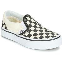 Încăltăminte Copii Pantofi Slip on Vans CLASSIC SLIP-ON Negru / Alb