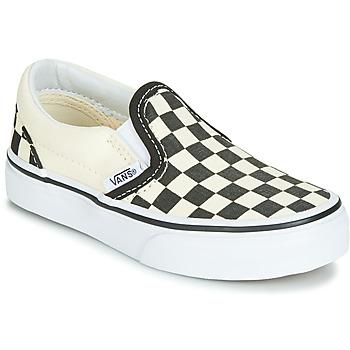 Pantofi Copii Pantofi Slip on Vans CLASSIC SLIP-ON Negru / Alb