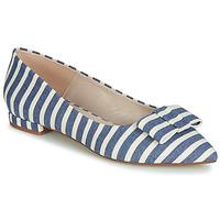 Pantofi Femei Balerin și Balerini cu curea Fericelli JILONOU Albastru / Alb