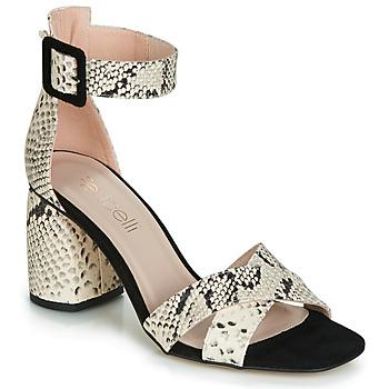 Pantofi Femei Sandale și Sandale cu talpă  joasă Fericelli JEZI Alb / Negru