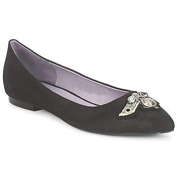 Pantofi Femei Balerin și Balerini cu curea Couleur Pourpre TIMEA Negru