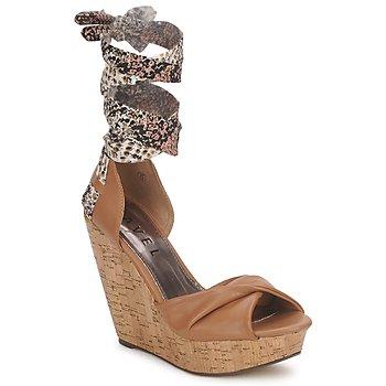 Pantofi Femei Sandale și Sandale cu talpă  joasă Ravel JEMMA Camel