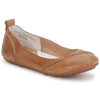 Pantofi Femei Balerin și Balerini cu curea Hush puppies JANESSA Maro