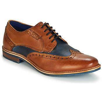 Încăltăminte Bărbați Pantofi Derby Bugatti TROISCINQ Coniac / Albastru