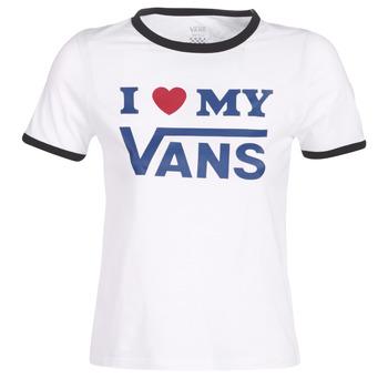 Îmbracaminte Femei Tricouri mânecă scurtă Vans VANS LOVE RINGER Alb