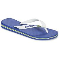 Pantofi  Flip-Flops Havaianas BRASIL LOGO Alb / Albastru