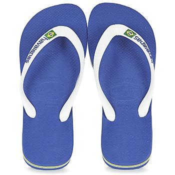 Pantofi  Flip-Flops Havaianas BRASIL LOGO Alb / Bleumarin