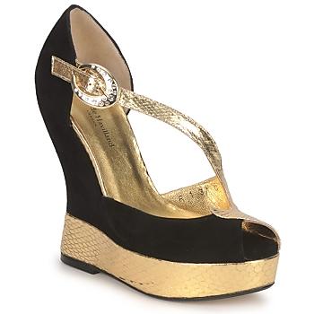 Încăltăminte Femei Sandale și Sandale cu talpă  joasă Terry de Havilland PENNY Black-gold