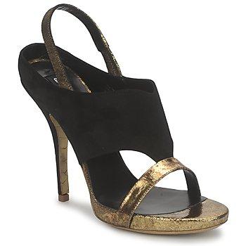 Pantofi Femei Sandale și Sandale cu talpă  joasă Gaspard Yurkievich T4 VAR7 Negru / Auriu