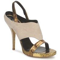 Pantofi Femei Sandale și Sandale cu talpă  joasă Gaspard Yurkievich T4 VAR8 Bej / Auriu