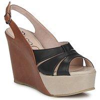 Pantofi Femei Sandale și Sandale cu talpă  joasă Paco Gil RITMO SELV Camel / Negru