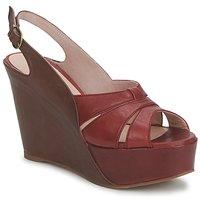 Pantofi Femei Sandale și Sandale cu talpă  joasă Paco Gil RITMO SELV Camel / Roșu-bordeaux
